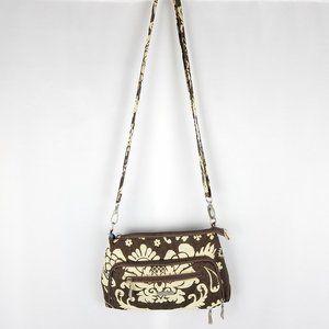 Baggalini bag brown/cream floral cross body